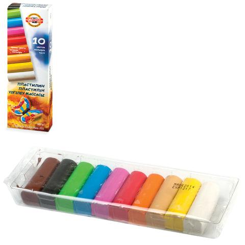 """Пластилин KOH-I-NOOR """"Бабочка"""", 10 цветов, 200 г, картонная коробка с пластиковым поддоном, 013171000000RU"""
