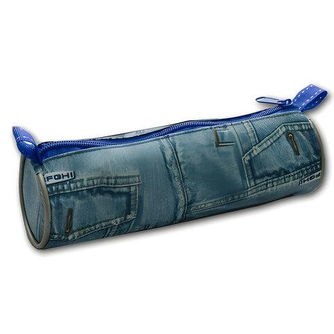 Пенал-тубус (косметичка) дизайн джинсы, размер 200х65 мм, ПТ-01