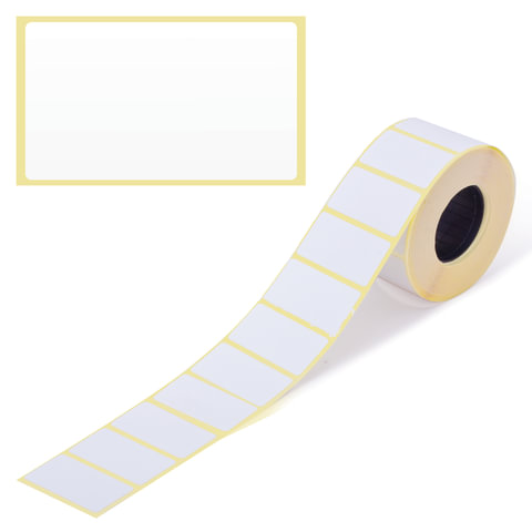 Этикетка ТермоЭко, для термопринтера и весов, 43х25х1000 шт. (ролик), светостойкость до 2 месяцев, 122066