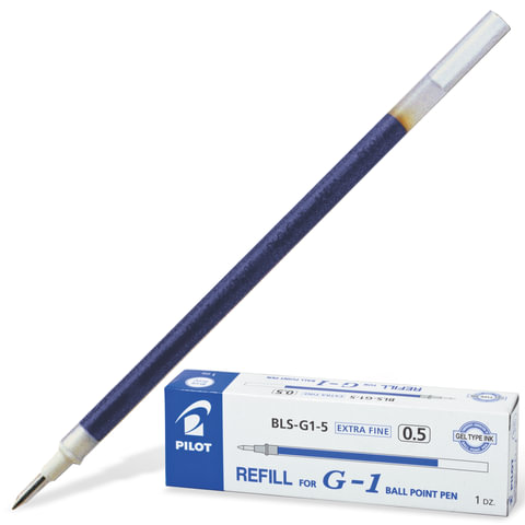 Стержень гелевый PILOT BLS-G1-5, 128 мм, евронаконечник, 0,3 мм (к ручке 140471), синий