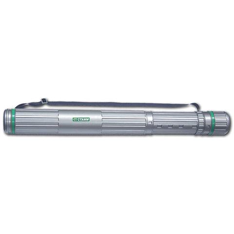 Тубус для чертежей СТАММ телескопический, диаметр 9 см, 70-110 см, серый, на ремне, ПТ12
