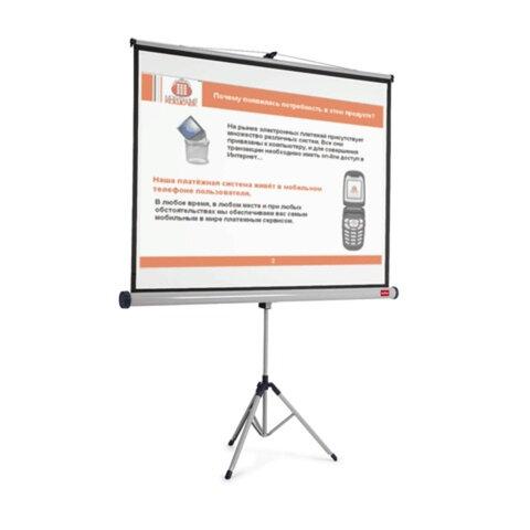 Экран проекционный NOBO (США), матовый, на треноге, 200х151 см, 4:3, 1900033, 1902397, 1900033/1902397