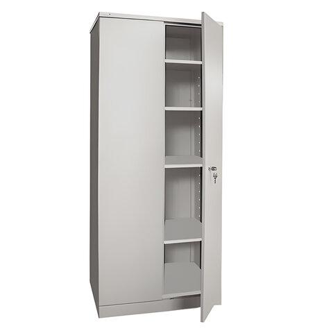 """Шкаф металлический офисный НАДЕЖДА """"ШМС-4"""", 1850х756х452 мм, разборный, 2 места"""
