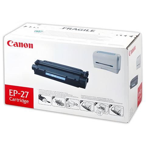 Картридж лазерный CANON (EP-27) LBP-3200/MF3228/3240/5730 и другие, оригинальный, ресурс 2500 стр., 8489A002