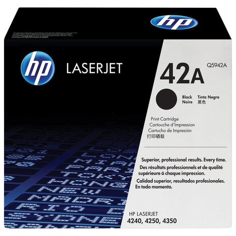 Картридж лазерный HP (Q5942А) LaserJet 4250/4350 и другие, №42А, оригинальный, ресурс 10000 стр., Q5942A