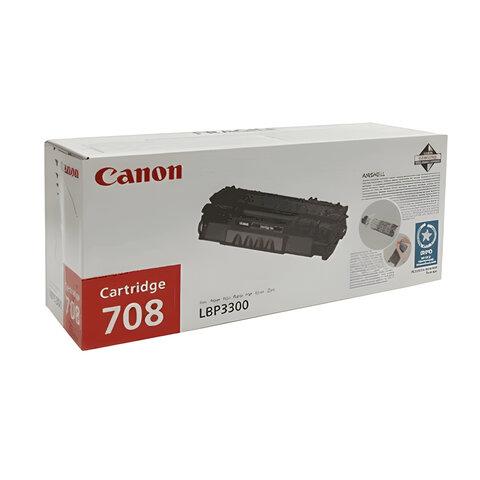 Картридж лазерный CANON (708) LBP-3300, оригинальный, ресурс 2500 стр., 0266B002