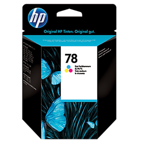 Картридж струйный HP (C6578D) Deskjet 959C/1220C/9650, №78, цветной, оригинальный