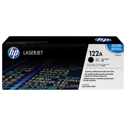 Картридж лазерный HP (Q3960A) ColorLaserJet 2550/2820 и другие, черный, оригинальный, 5000 стр.