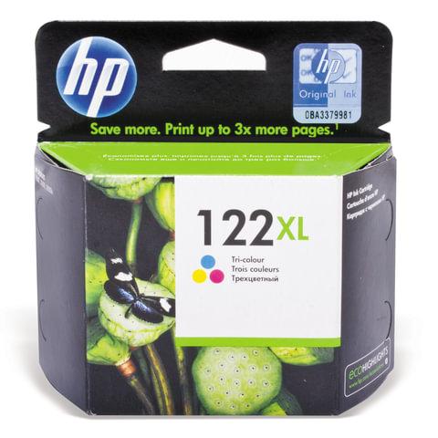 Картридж струйный HP (CH564HE) Deskjet 1050/2050/2050S, №122XL, цветной, оригинальный, 330 стр.