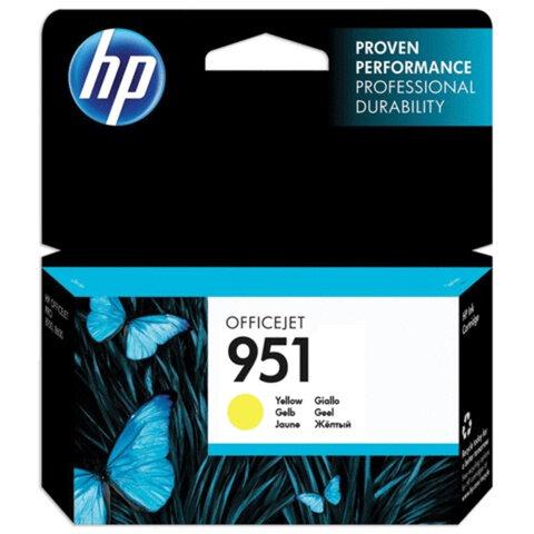 Картридж струйный HP (CN052AE) OfficeJet 8100/8600/8610, №951, желтый, оригинальный