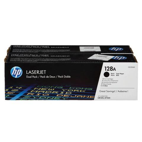 Картридж лазерный HP (CE320AD) LaserJet CM1415FNW/CP1525NW, черный, комплект 2 шт., оригинальный, ресурс 2*2000 стр.
