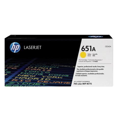 Картридж лазерный HP (CE342A) LaserJet Enterprise 700 M775dn/f/z, желтый, оригинальный, ресурс 16000 стр.