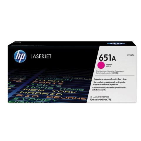 Картридж лазерный HP (CE343A) LaserJet Enterprise 700 M775dn/f/z, пурпурный, оригинальный, ресурс 16000 стр.