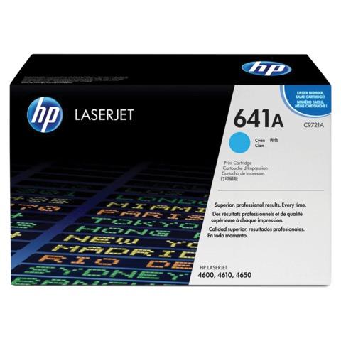 Картридж лазерный HP (C9721A) ColorLaserJet 4600/4650, голубой, оригинальный, ресурс 8000 стр.