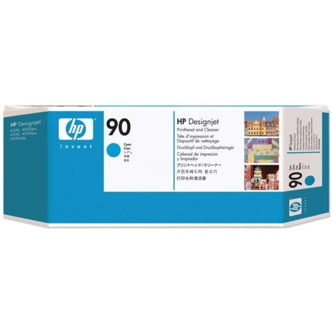 Головка печатающая для плоттера HP (C5055A) DesignJet 4000/4020/4500/4520, №90, голубая, оригинальная