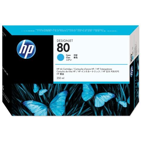 Картридж струйный HP (C4846A) DesignJet 1050C/1055CM, №80, голубой, оригинальный