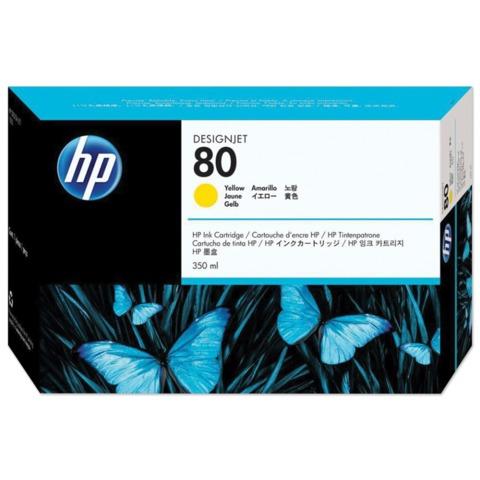 Картридж струйный HP (C4848A) DesignJet 1050C/1055CM, №80, желтый, оригинальный