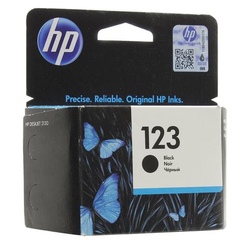 Картридж струйный HP (F6V17AE) Deskjet 2130, №123, чёрный, оригинальный, ресурс 120 стр.