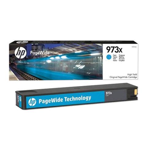 Картридж струйный HP (F6T81AE) PW Pro 477dw/452dw, 973XL, голубой, увеличенный ресурс 7000 стр., оригинальный