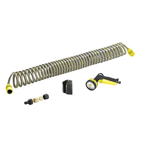 Коннекторы (соединители) karcher (керхер), двухсторонние, для системных и сочащихся шлангов, пластик, 2 шт