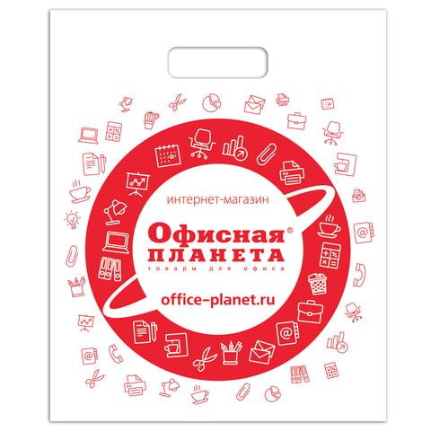 Пакет презентационно-упаковочный ОФИСНАЯ ПЛАНЕТА, 40х50 см, усиленная ручка