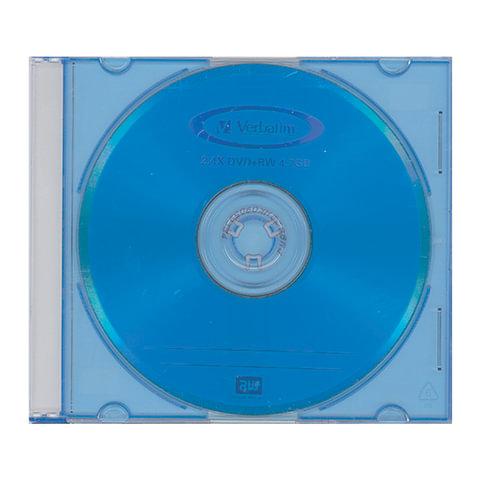 Диск DVD+RW (плюс) VERBATIM, 4,7 Gb, 4x, Color Slim Case