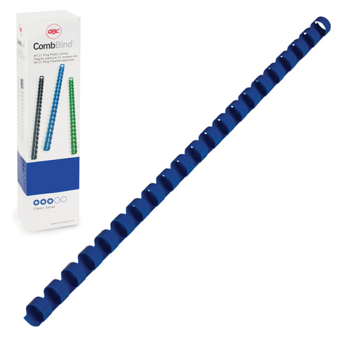 Пружины пластиковые для переплета GBC (Англия), комплект 100 шт., 10 мм, на 46-65 л., синие, 4028235/4401963