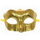 """Маска карнавальная """"Блестящая золотая"""", 15,5х9х7,5 см, ПВХ, с атласной лентой, 75236"""