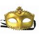 """Маска карнавальная """"Золотая"""", 11,7х17х7,5 см, ПВХ, с атласной лентой, 75244"""