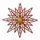"""Украшение декоративное подвесное """"Снежинка золотая с красным"""", 24х24см, пластик, 75105"""