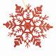 """Украшение декоративное подвесное """"Снежинка-паутинка красная"""", 16,5х16,5 см, пластик, 75097"""