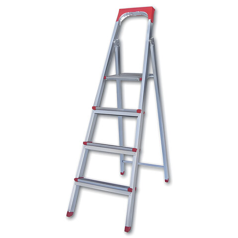 """Лестница-стремянка """"UFUK """", 86 см, 4 ступени, стальная, облегченная, вес 6,3 кг, ТУ 18/KRM404"""