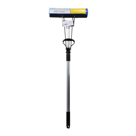 Швабра с отжимом, металлическая ручка 120 см, насадка PVA, 27 см (механизм-ролики), для офиса и дома, PVA-07,ШВА098