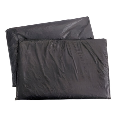 """Мешки для мусора, 200 л, комплект 5 шт., в упаковке, ПВД, особо прочные, 90х130 см, 65 мкм, черные, КБ """"Профи"""", 0919"""