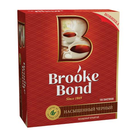 Чай BROOKE BOND (Брук Бонд), черный, 100 пакетиков с ярлычками по 1,8 г, 65415526