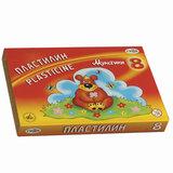 """Пластилин классический ГАММА """"Мультики"""", 8 цветов, 160 г, со стеком, картонная упаковка, 280016, 281016"""