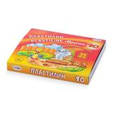 """Пластилин классический ГАММА """"Мультики"""", 10 цветов, 200 г, со стеком, картонная упаковка, 280017, 281017"""