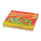 """Пластилин классический ГАММА """"Мультики"""", 12 цветов, 240 г, со стеком, картонная упаковка, 280018, 281018"""
