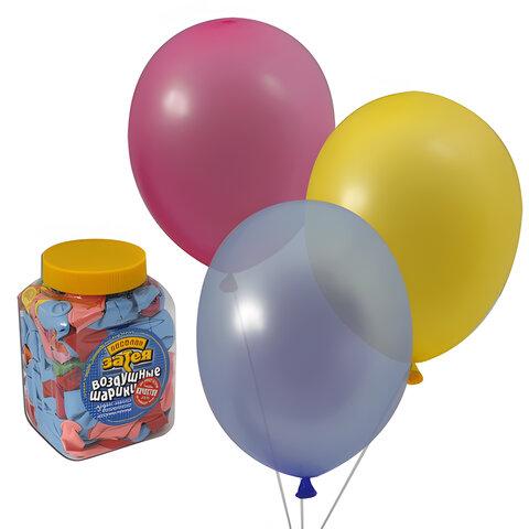 """Шары воздушные 10"""" (25 см), комплект 200 шт., 14 цветов, в банке, 1110-0003"""