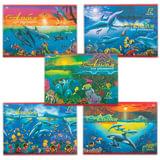 """Альбом для рисования, А4, 12 л., обложка офсет, HATBER VK """"Дельфины"""", 12А4C, A069936"""