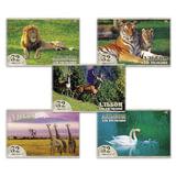 Альбом для рисования, 32 л., HATBER VK, спираль, обложка мелованный картон, 100 г/м<sup>2</sup>, &quot;Животный мир&quot; (5 видов), 32А4Cсп, A140697