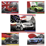 """Альбом для рисования, А4, 40 л., выборочный лак, HATBER """"Country cars"""" (""""Авто""""), 40А4вмB, A090701"""