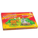 """Пластилин классический ГАММА """"Мультики"""", 16 цветов, 320 г, со стеком, картонная упаковка, 280027, 281027"""