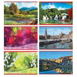 Альбом для рисования, 40 л., АППЛИКА, обложка мелованный картон, 100 г/м<sup>2</sup>, &quot;Пейзажи/Города&quot;, С0220