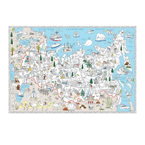 Карта-раскраска