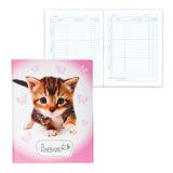 """Дневник для 1-4 классов, твердый, BRAUBERG, выборочный лак, """"Котенок"""", 104234"""