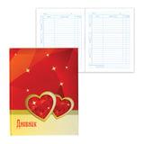 """Дневник для 5-11 классов, твердый, BRAUBERG, блестки, """"Два сердца"""", 104246"""