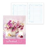 """Дневник для 5-11 классов, твердый, BRAUBERG, ламинированная обложка, """"Нежные цветы 2"""", 104272"""
