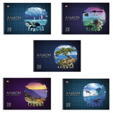 Альбом для рисования, 32 л., HATBER VK, спираль, обложка мелованный картон, 100 г/м<sup>2</sup>, &quot;Путешествия&quot; (5 видов), 32А4Ссп, A212783