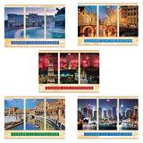 """Альбом для рисования, А4, 40 листов, скоба, обложка картон, HATBER VK, 205х290 мм, """"Города мира"""", 40А4С, A212660"""
